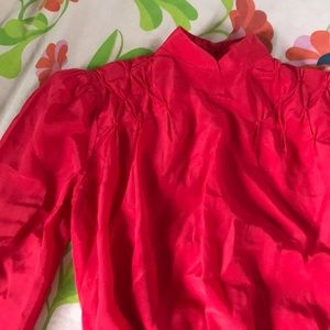 1970's cropped cherry blouse